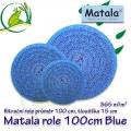 Matala kulatá jemná role BLUE, průměr 100 cm, výška 15 cm