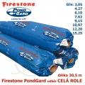 Jezírková fólie Firestone EPDM PondGard odběr celá role, 179 Kč za 1 m2