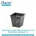 Koš na vodní rostliny čtvercový 11cm - Plant basket rectangular 11