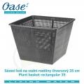 Koš na vodní rostliny čtvercový 35cm - Plant basket rectangular 35