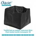 Textilní koš na rostliny, čtvercový 30cm - Plant basket textile rectangular 30