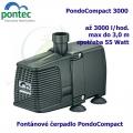 Fontánové čerpadlo - Pontec PondoCompact 3000, max. průtok 3000 l/h, výtlak 3,0 m, příkon 55W,