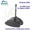 Kompaktní podvodní filtr s fontánovou tryskou - Pontec PonDuett 3000, 1500 litrů/hod