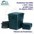Průtoková filtrační sada Pontec PondoClear Set 4000, pro jezírka do 4000 litrů, UV-C 7 Watt, max. průtok 1000 l/h, hadice 3m