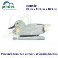 Teal drake - Plovoucí kačer 26 x 11,5 x 10,5 cm