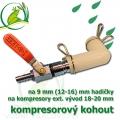 Kompresorový kohout, jednocestný na 9-13 mm hadičku