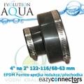 EA EPDM spojka-přechodka 4 na 2 122-116/68-63 mm