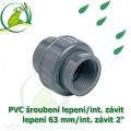 PVC šroubení 63 mm profi, rozpojitelné, lepení/interní závit 2