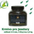 Krmivo pro jesetery, 2 litry, cca 1,5 kg, velikost 4-5 mm