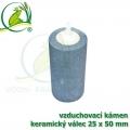 Vzduchovací kámen keramický, válec 25x50x4 mm
