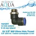 EA 3/8 BSP Elbow Male Thread 3/8 závit int + koleno-rychlospojka 12 mm