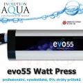 Prefesionální UV zářič evo press 55 Watt, v novém provedení v tlakové verzi, s nulovým odporem.