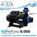 EAProPump 8000, vysoce profesionální čerpadla pro gravitační zapojení a koupací jezírka, IPX5, extra nízkou spotřebou a vysokým výkonem, 9.300 litrů/hod., 2,26 m, 87 Watt, zapojení na 2