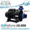 EAProPump 10000, vysoce profesionální čerpadla pro gravitační zapojení a koupací jezírka, extra nízkou spotřebou a vysokým výkonem, 10.200 litrů/hod., 2,41 m, 89 Watt, napojení na 2