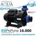 EAProPump 16000, vysoce profesionální čerpadla pro gravitační zapojení a koupací jezírka, extra nízkou spotřebou a vysokým výkonem, 16.900 litrů/hod., 4,69 m, 193 Watt, napojení na 2