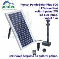 Pontec PondoSolar 600 - Solární fontána s čerpadlem a solárním panelem