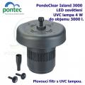 PondoClear Island 3000 - Plovoucí filtr s UVC lampou
