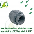 PVC šroubení 50 mm profi, rozpojitelné, interní závit 1 1/2 interní závit 1 1/2