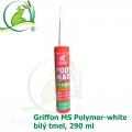 Griffon MS Polymer-white, bílý tmel, 290 ml