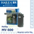 Akvarijní vnitřní filtr Hailea MV-600, 400 litrů/hod., příkon 6 W, váha 0,45 Kg,