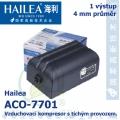 Vzduchovací kompresor tichý Hailea ACO-7701, 2x4  l/min, 3 Watt, do 40 db,