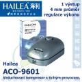 Vzduchovací kompresor tichý Hailea ACO-9601, 3,2 l/min, 2 Watt, do 40 db,