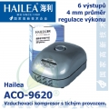 Vzduchovací kompresor tichý Hailea ACO-9620, 14 l/min, 12 Watt, do 45 db,