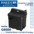 Průtočná filtrace Hailea G8000 s 11 Watt UV, do jezírka 6.000 litrů