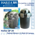 Tlaková filtrace QF25, včetně 11 Watt UV, pro jezírka do 12000 litrů, obsah 25 l, max. průtok 6000 litrů/hod.