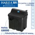 Průtočná filtrace Hailea G8000 s 13 Watt UV, do jezírka 6.000 litrů