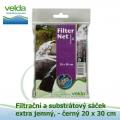 Velda filtrační a substrátový sáček extra jemný-černý, 20x30 cm
