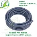 Tlaková PVC hadice 20mm ext. / 16 mm int. , cena za 1 metr 63 Kč, při odběru celého balení 25 metrů