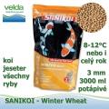 SaniKoi Winter Wheat Food 3 mm, koi, jeseter pro všechny ryby, po celý rok, 3000 ml