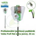 Profesionální jezírkový podběrák Velda Profi Net extra jemný, čtvercová síťka, 35 cm