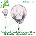 Teleskopický podběrák, kruh 20 cm
