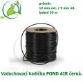 Vzduchovací hadička POND AIR 9 mm BLACK, černá (9X12 mm), cena za 1 metr.