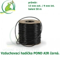 Vzduchovací hadička POND AIR 9 mm BLACK, černá (9X12 mm), cena za balení 50 m.