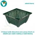 Sázecí košík dekorativní extra jemný 25x25 cm, zelený, pro vodní rostliny a malé lekníny.