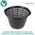 Sázecí košík leknínový 40 cm extra velký,  černý, pro vodní rostliny a vzrostlé lekníny