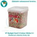 VT Budget food 3-Colour Sticks 5 l, celosezonní krmivo pro všechny druhy ryb