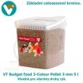 VT Budget food 2-Colour Pellet 3mm 5 l, celosezonní krmivo pro všechny druhy ryb