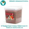 VT Budget food 2-Colour Pellet 6mm 5 l, celosezonní krmivo pro všechny druhy ryb