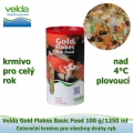 Gold Flakes Basic Food 100 g/1250 ml, od 4°C, vločky, celoroční krmivo pro všechny druhy ryb