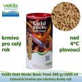 Gold Sticks Basic Food 260 g/2500 ml, od 4°C, žížaly, celoroční krmivo pro všechny druhy ryb
