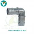 L-kus hadicový 25 mm
