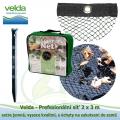 Velda Prefesionální síť 2x3 m, extra jemná, vysoce kvalitní, s úchyty na zakotvení do země
