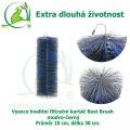Vysoce kvalitní filtrační kartáč Best Brush modro-černý 30 x 10 cm. Extra dlouhá životnost !