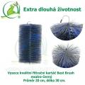 Vysoce kvalitní filtrační kartáč Best Brush modro-černý 30 x 20 cm. Extra dlouhá životnost !