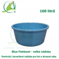 Blue Fishbowl - Velká nádoba 100 litrů, kontrolní, karanténní nádoba pro koi a okrasné ryby