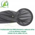 Profesionální koi KNS přenosná a odlovná síťka s 15 cm rukojetí, Ø 30 cm, délka 142 cm